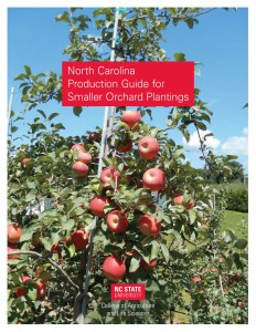 Image of the cover of the North Carolina Production Guide for Smaller Orchard Plantings