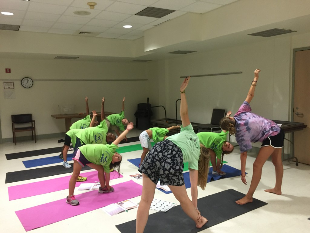 Yoga Instruction for local Communities in Schools Campers