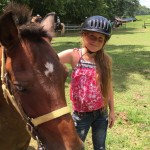 Kirsten Avery and her horse during the horseback riding class.