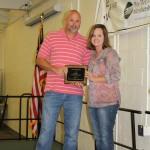 Nichole Carpenter, Soil & Water Board Member, presents the Conservation Farm Family Award.