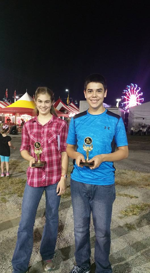 Pictured from left, Josh Jones and Emma Dingle won first place in their age group.