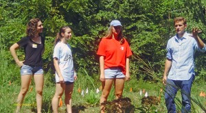 Mr. Kaybay and Students started a Pollinator Habitat Garden at East Chapel Hill High School - Photo by Harold Johnson, CC-BY