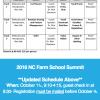 Screen Shot of Farm School Summit Schedule