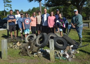 Seawolves 4-H club annual fall participation with Carteret Big Sweep