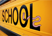 school bus with wiggle worm