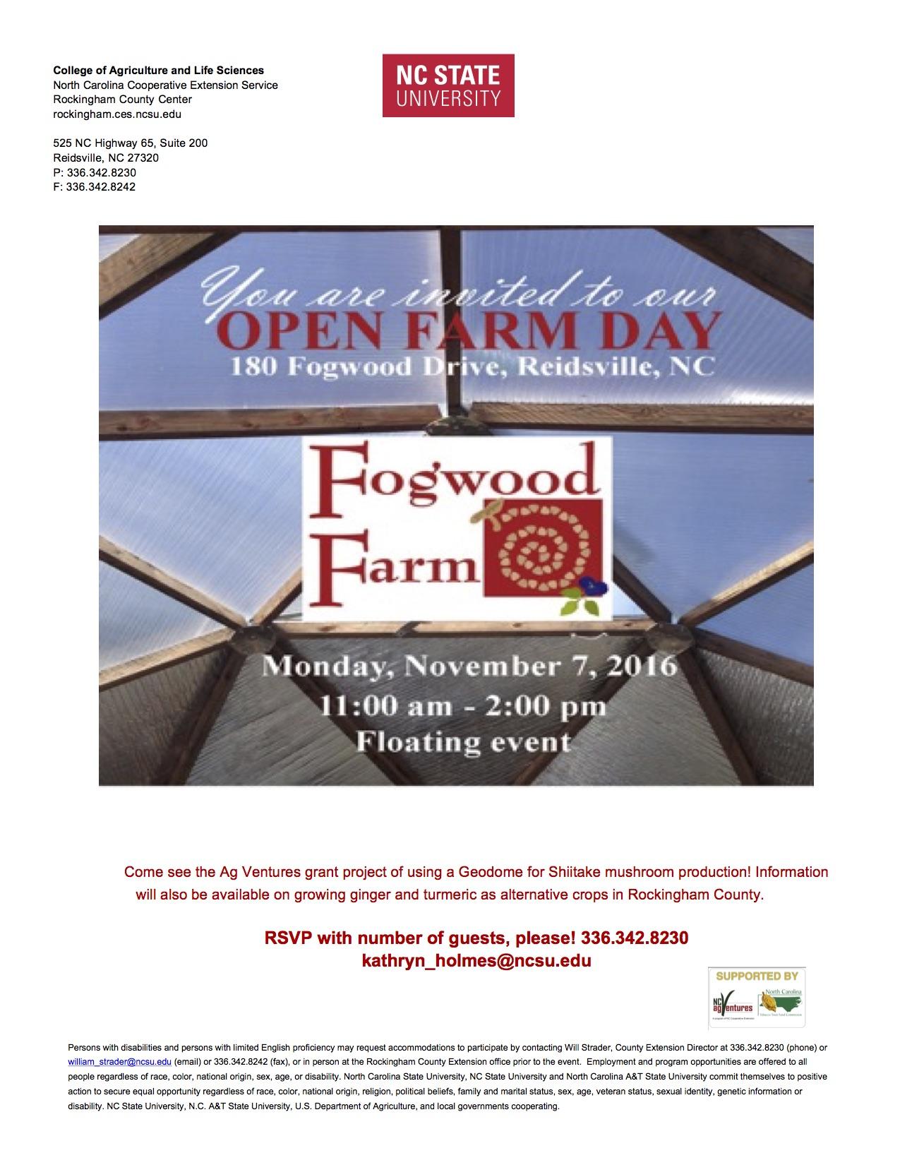 FogWood Farm Flyer
