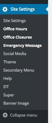 Screenshot of new wp-admin menu