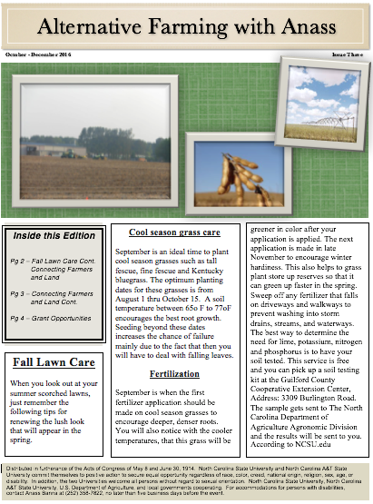 Alternative Farming with Anass Newsletter image