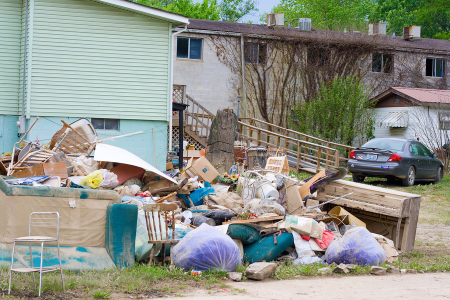 Martin KY - May 15: Heavy rains caused severe flooding May 8 2009 in Eastern Kentucky. Town of Martin sustained substantial property damage as a result of flood.