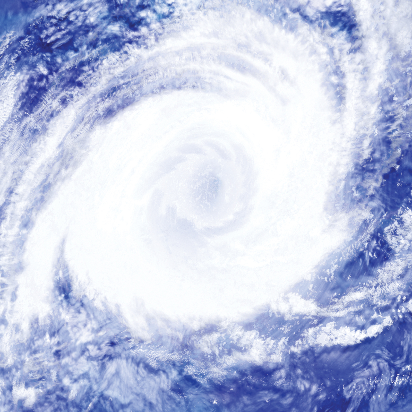 A depiction of a hurricane adapted from a cloud picture.