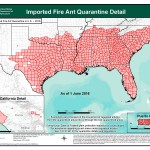 Red imported fire ant map - U.S. - 2016
