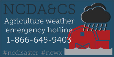 Agriculture Weather Emergency Hotline 1-866-645-9403