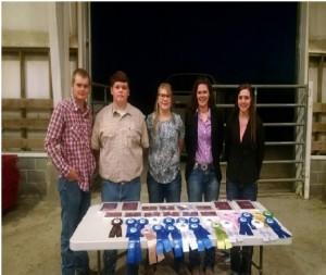 Senior 4-H Judging Team with plaques and ribbons won at the State Fair Livestock Judging Competition. Senior 4-H Members include: (right to left) Emily Atkinson, Regan Mitchem, Emma McSwain, Isaac Lidke, and Haydin Lidke. Join the 4-H judging team this year starting with an introductory class over Christmas break. December 22 Lincoln class: call (704)736-8461 and December 23 Catawba class: call (828)465-8246.