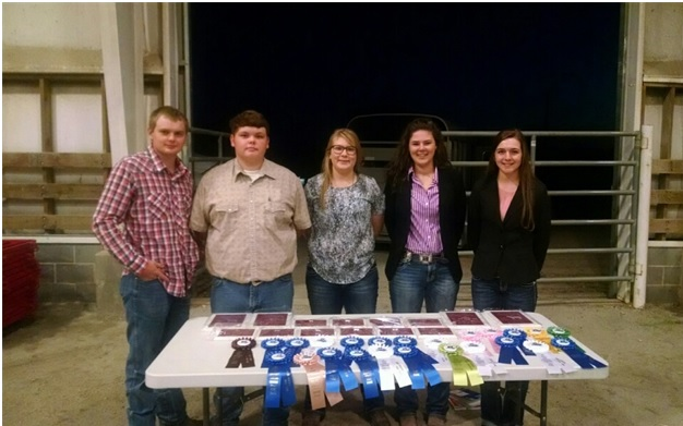Senior 4-H Judging Team with plaques and ribbons won at the State Fair Livestock Judging Competition. Senior 4-H Members include: (right to left) Emily Atkinson, Regan Mitchem, Emma McSwain, Isaac Lidke, and Haydin Lidke. Join the 4-H judging team this year starting with an introductory class over Christmas break. December 22 Lincoln class call (704)736-8461 and December 23 Catawba call (828)465-8246.