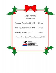 Cover photo for Office Closed Holiday Hours