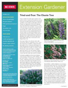 Cover to Extension Gardener Newsletter