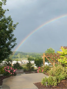MBC Lab with rainbow in the sky