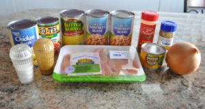 Ingredients for White Chicken Chili Meal