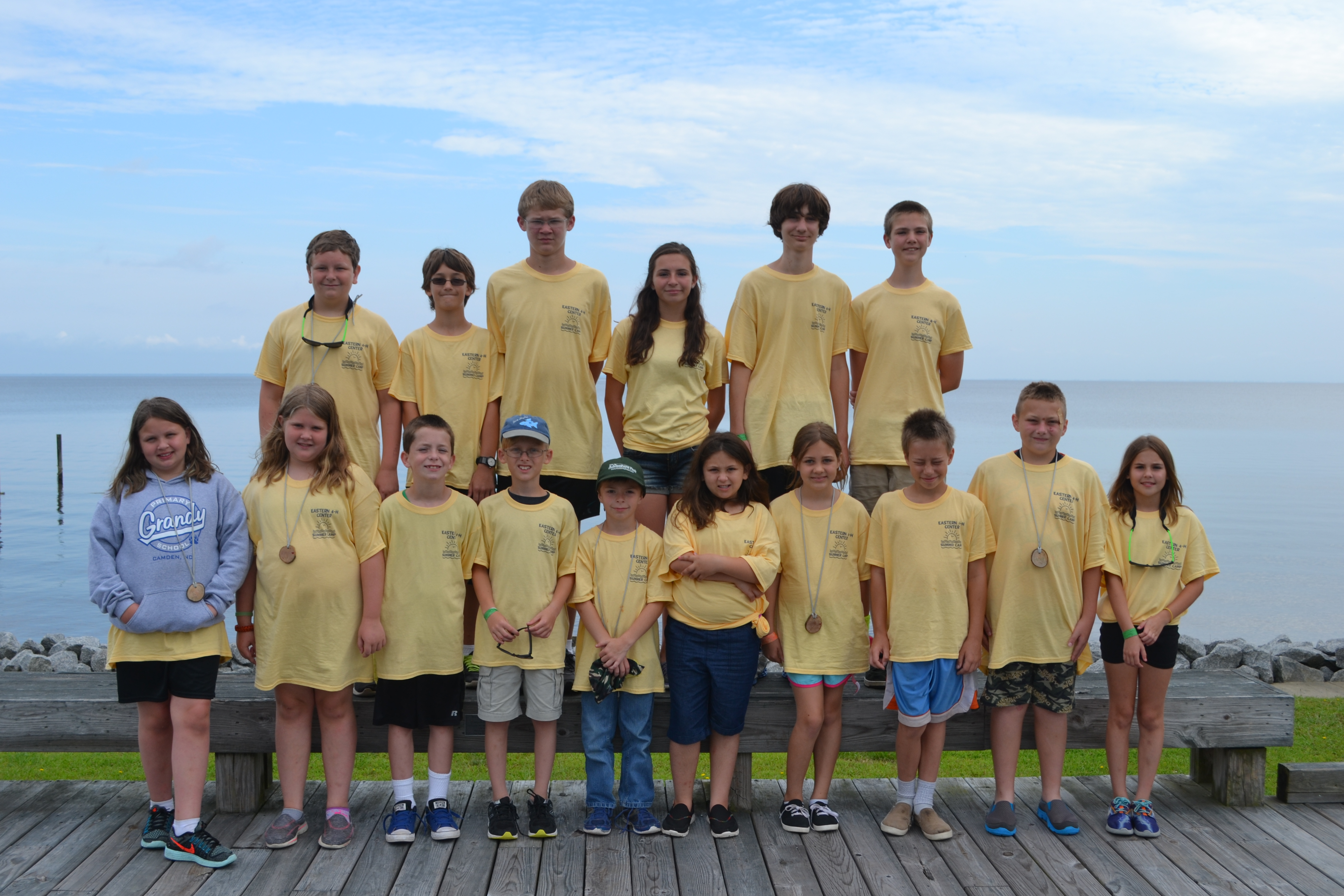 4-H Campers in matching t-shirts