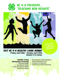 Cover photo for NC 4-H Healthy Living Summit!
