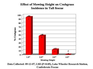 mowing height study results