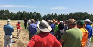 Photo of folks at Sandhills Research Station Field Day 2017