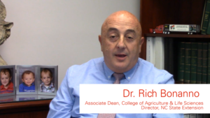 Rich Bonanno, NC State Extension Director | Update Video picture for September/October 2017