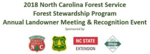 NC Forest Stewardship Program sponsor banner