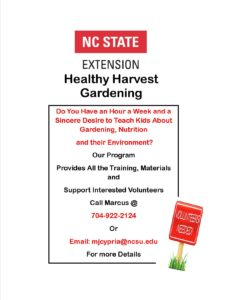 Cover photo for Incredible Volunteer Opportunity W/ NC State Extension