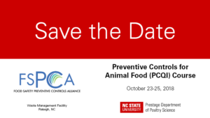 Save the Date card for the PCAF course