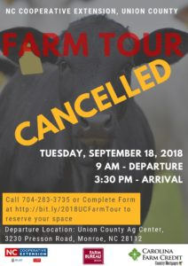 Cover photo for 2018 Union County Farm Tour Is Cancelled