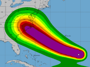 Hurricane Florence_National Hurricane Center Wind Speed Graphic_9-10-18