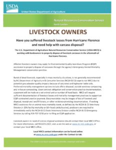Document about hurricane recovery assistance for landowners.