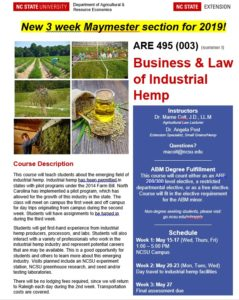 Business of hemp course flyer