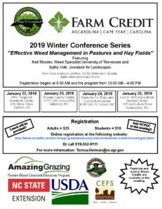 "Cover photo for 2019 Winter Extension Conference - ""Effective Weed Management in Pastures and Hay Fields"""