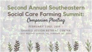 2nd Annual Southeastern Social Care Farming Summit