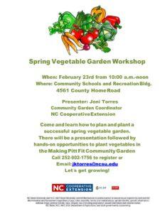 Cover photo for Vegetable Garden Workshop