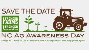 N.C. Agriculture Awareness Day info slide - March 20, 2019 in Raleigh, N.C.