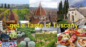 Montage of images of Tuscany