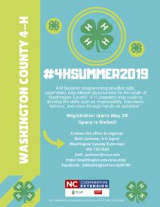 4-H Summer Program Title Page