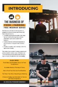 Cover photo for Introducing the Business of Food and Farming Series