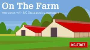 On The Farm series graphic representing poultry houses
