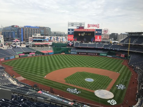 The Washington Nationals baseball field being featured in the World Series is managed by NC State turfghass alumni John Turnour