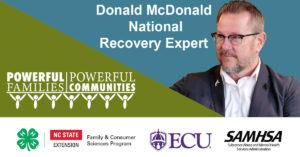 Donald McDonald, National Recovery Expert