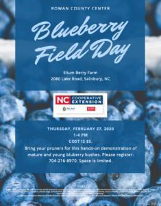 Blueberry Field Day Flyer