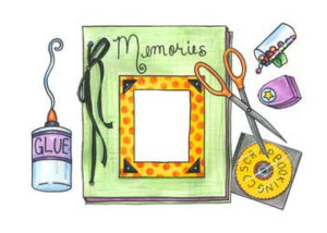 scrapbook and supplies clipart