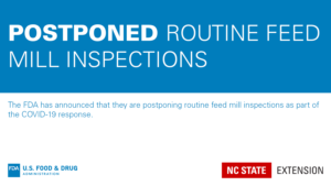 FDA postponing inspections graphic