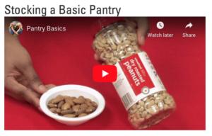 stocking a basic pantry