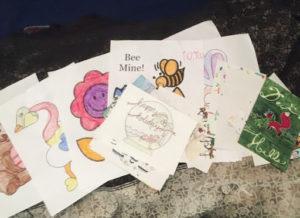 Variouse hand written cards