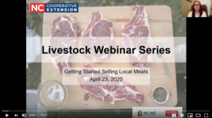 screen capture of the opening screen of the selling local meats video